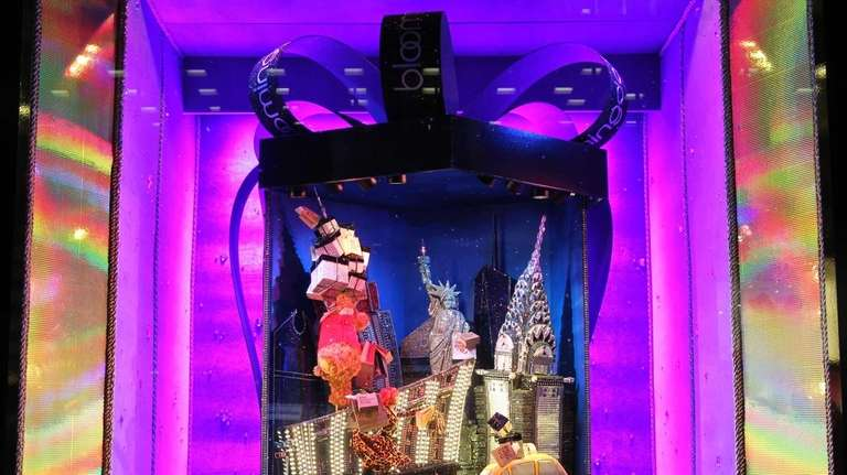 The New York City window display at Bloomingdale's.