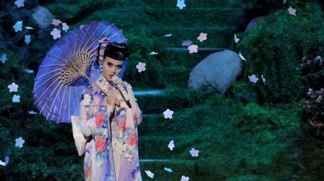 Singer Katy Perry performs onstage during the 2013