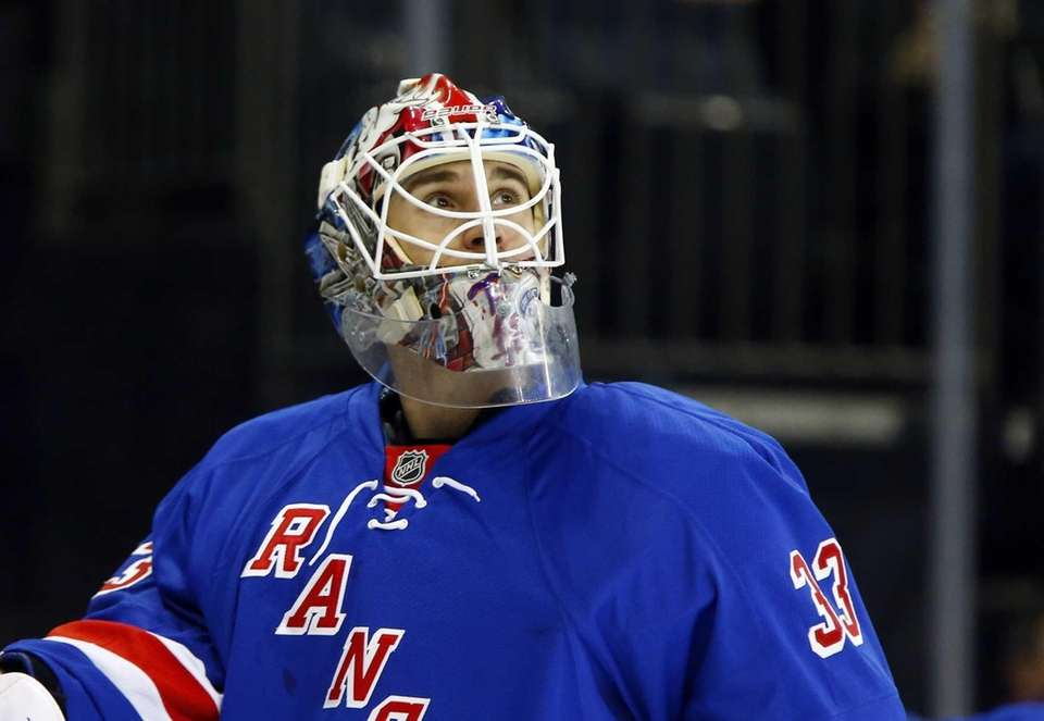 Cam Talbot prepares to play against the Winnipeg