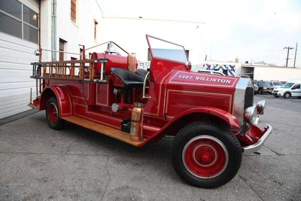 East Williston's 1929 pumper fire truck in New