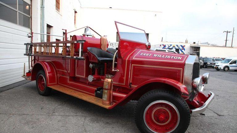 East Williston's 1929 pumper fire truck in New