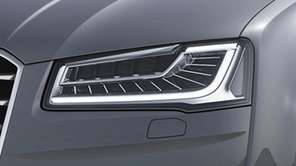 Audi's new lighting system, called Matrix LED, was
