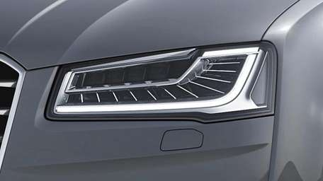 Audi's new lighting system, called Matrix LED, was