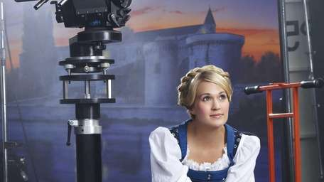 Carrie Underwood as Maria during rehearsal for