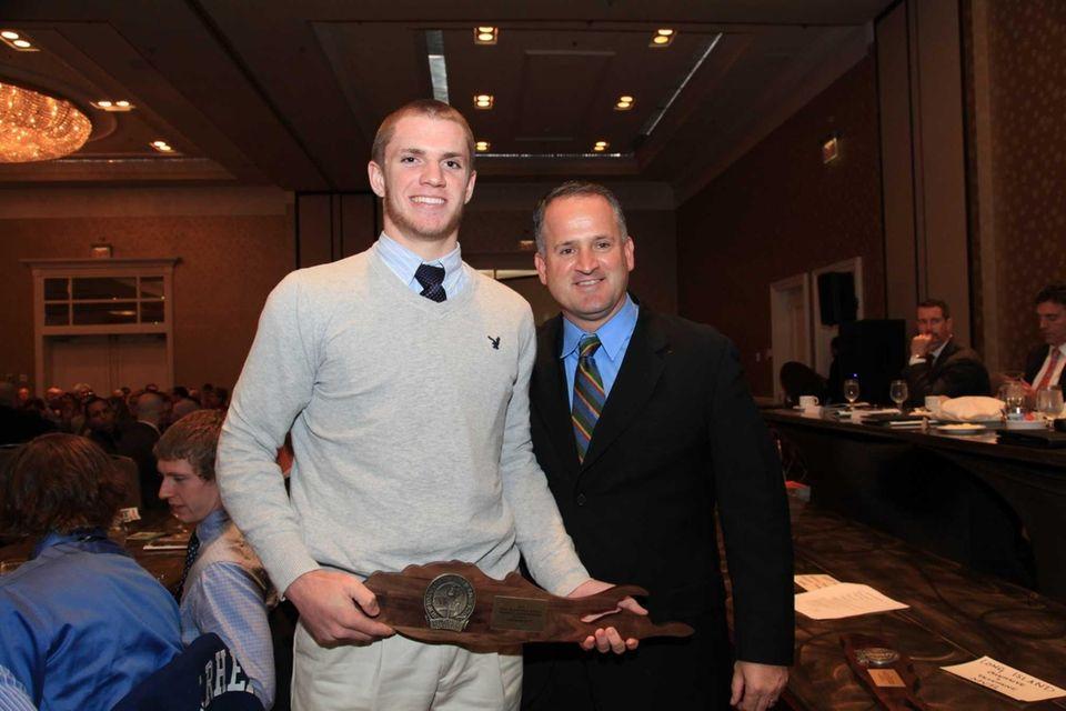 From Left; Babylon's Jake Carlock celebrates his MVP