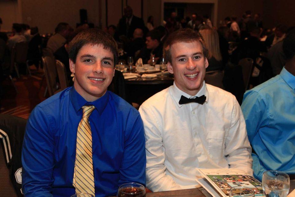 Bayport- Blue Points' teammates Dan Percival and Matt