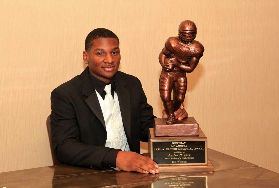 Carl A. Hansen Memorial Award winner Jordan Gowins