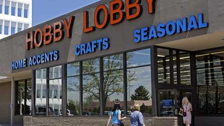 Customers at a Hobby Lobby store in Denver