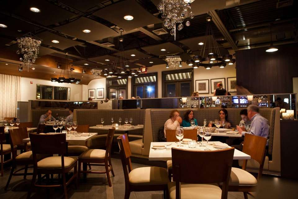 Trento's main dining area is sleek and modern.