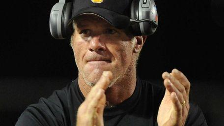 Oak Grove High School assistant coach Brett Favre