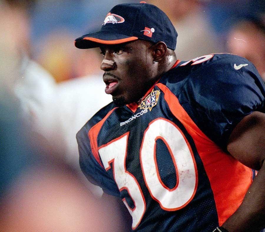 TERRELL DAVIS, Denver Broncos RB Super Bowl XXXII: