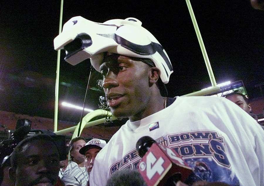 SHANNON SHARPE, Denver Broncos TE Super Bowl XXXIII: