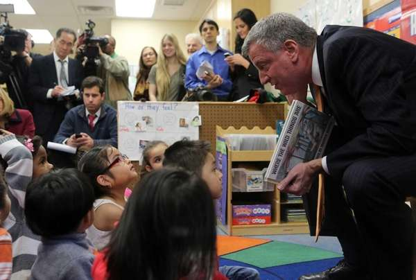 Mayor elect Bill De Blasio visits the Northside