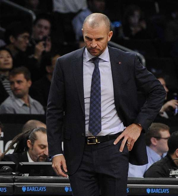 Nets head coach Jason Kidd reacts against the
