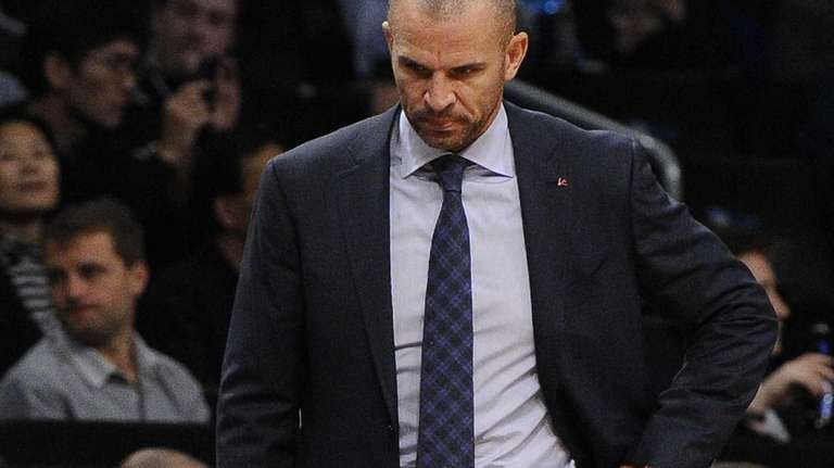 Nets head coach Jason Kidd reacts against the