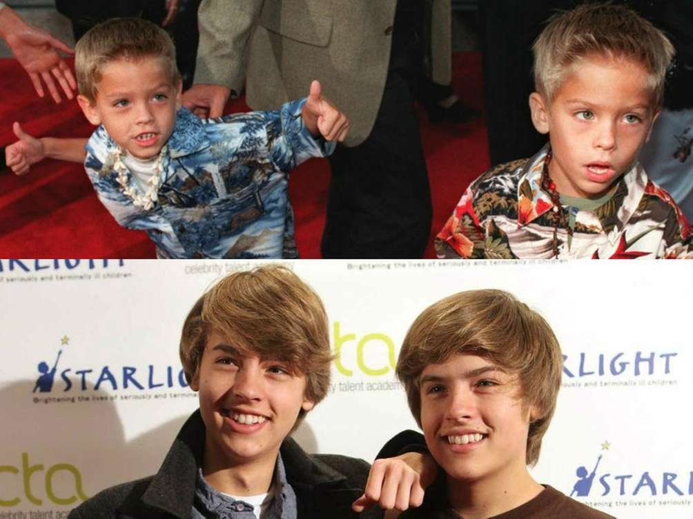 Cole Sprouse, left, with his twin brother Dylan