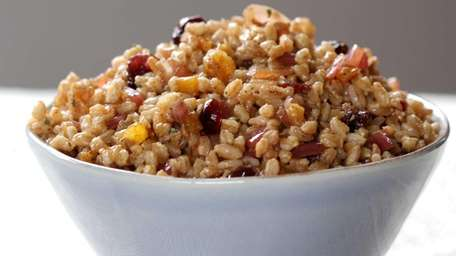 Farro, a wheat grain, is paired with an