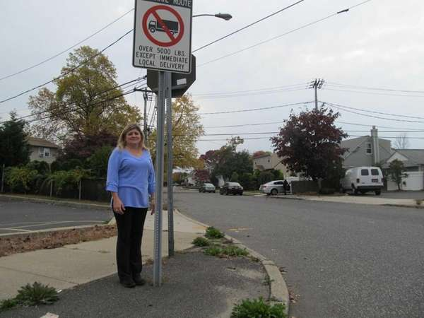 Michelle Falco on Golding Avenue in West Babylon.