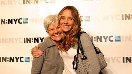 Amanda Bynes and her mom attend the launch
