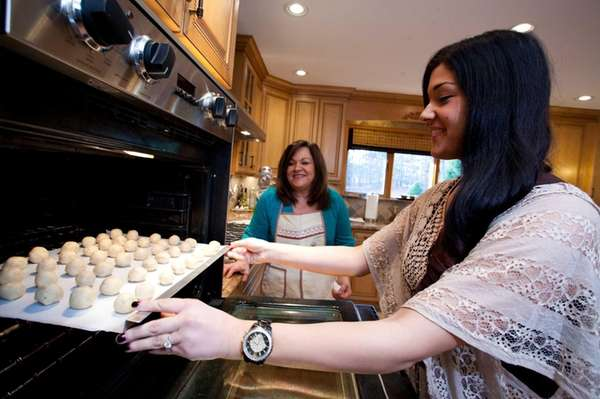 Vanessa Batista makes snowball cookies with her future
