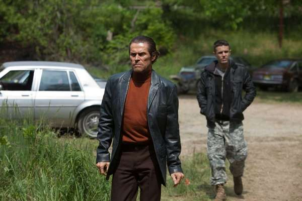 Willem Dafoe, left, and Casey Affleck in a