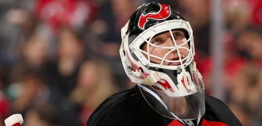Martin Brodeur of the New Jersey Devils looks