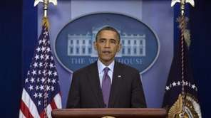 President Barack Obama speaks in the briefing room