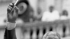 Nelson Mandela holds a key to the city