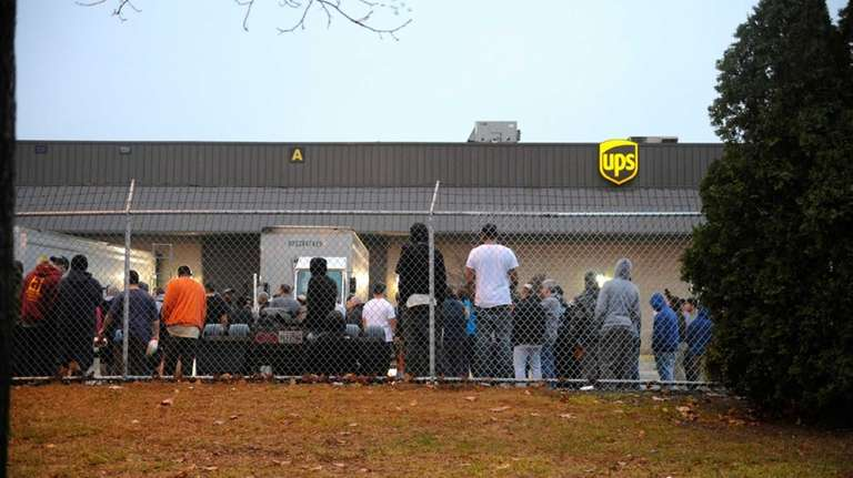 Firefighters respond to a United Parcel Service facility