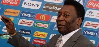 Brazilian soccer legend Pele arrives for the final