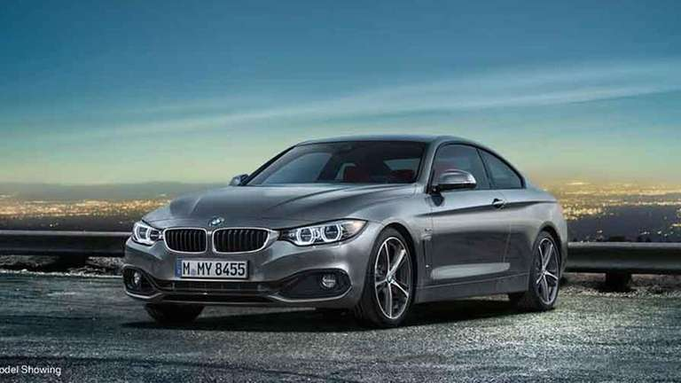 The 2014 BMW 4 Series coupe is slightly