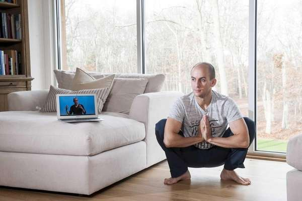 Ari Meisel, a life coach, at his home