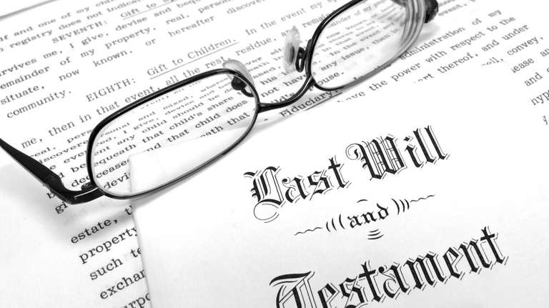 Leaving a will to divide up your property