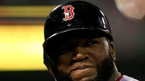 David Ortiz of the Boston Red Sox looks