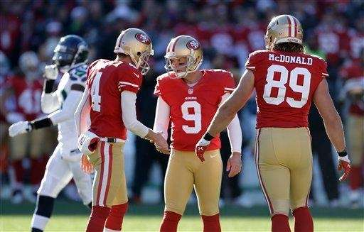 San Francisco 49ers kicker Phil Dawson (9) is