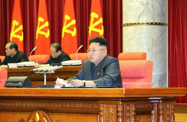 North Korean leader Kim Jong-un presides over a