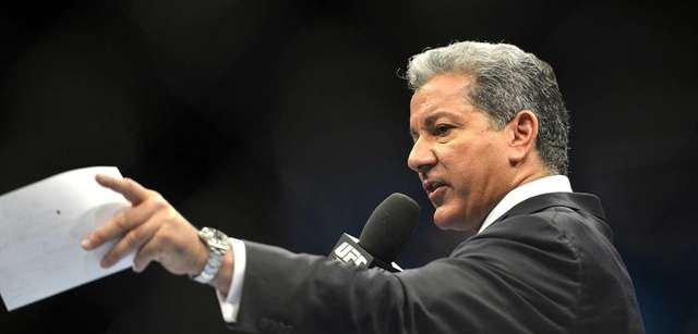 UFC fight announcer Bruce Buffer announces the fighters