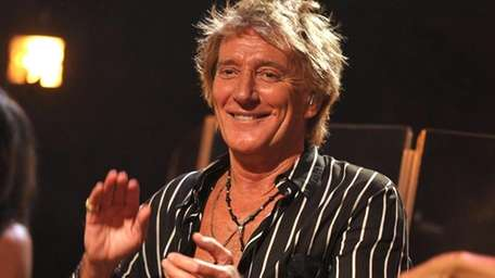 Singer Rod Stewart performs at the Troubadour in