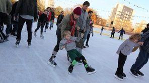 Ice skating at McCarren Rink in Williamsburg. (Nov.