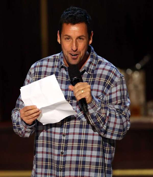 Adam Sandler speaks during Spike TV's