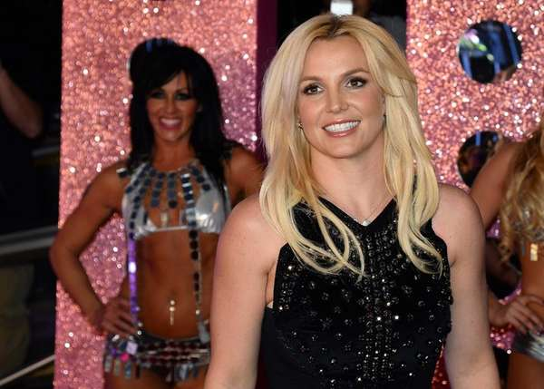 Britney Spears arrives at a welcome ceremony as