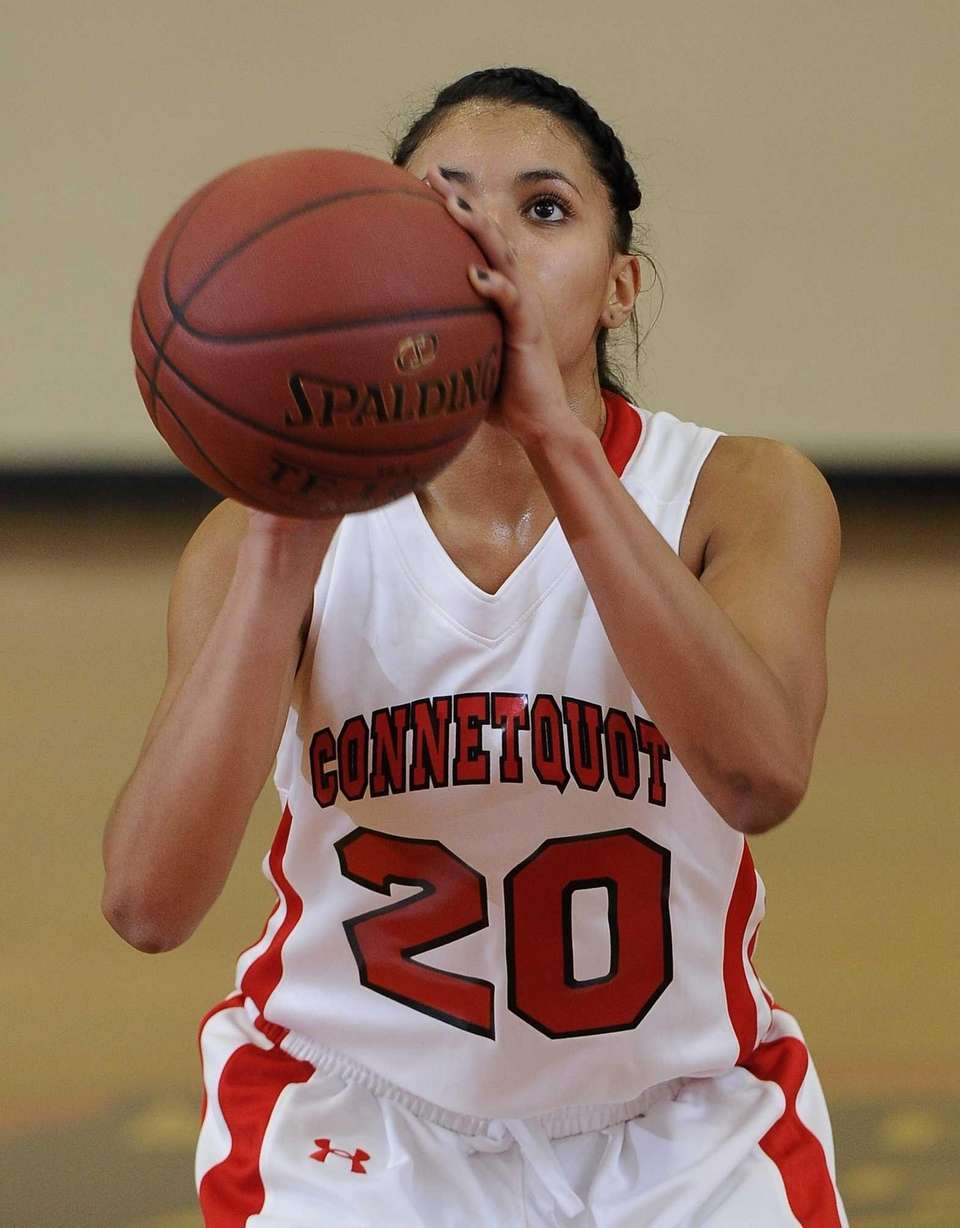 Connetquot guard Alyssa Torres keeps her eyes on