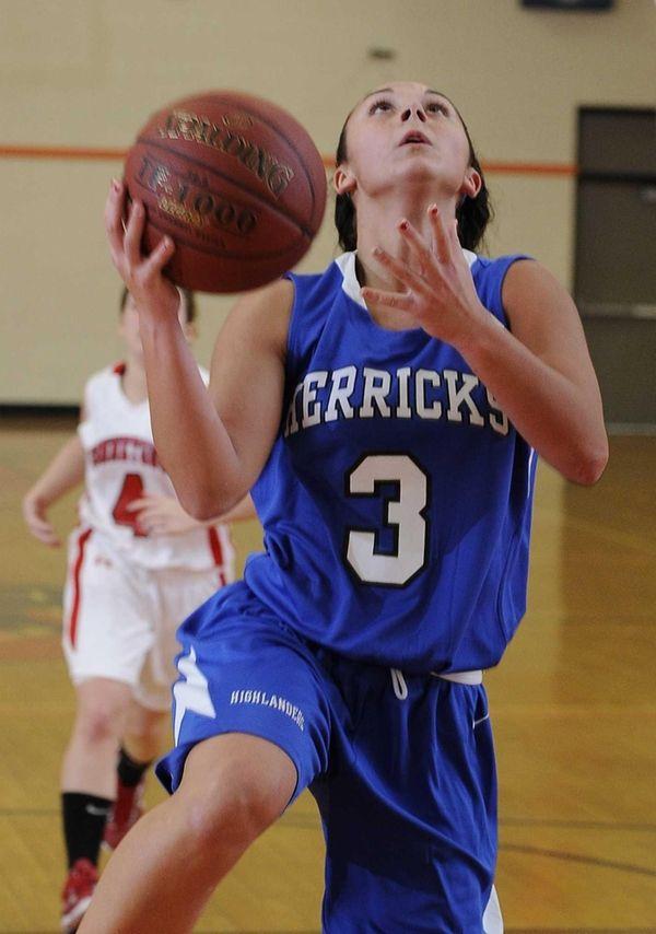 Herricks guard Erin Rivera looks to shoot against