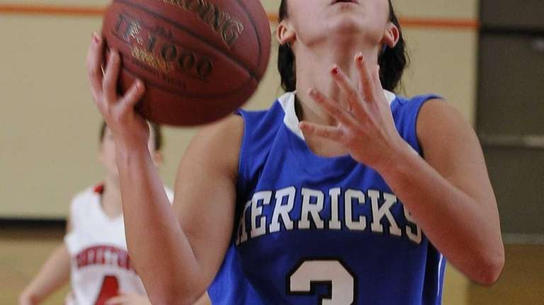 Herricks guard Erin Rivera looks to shoot against