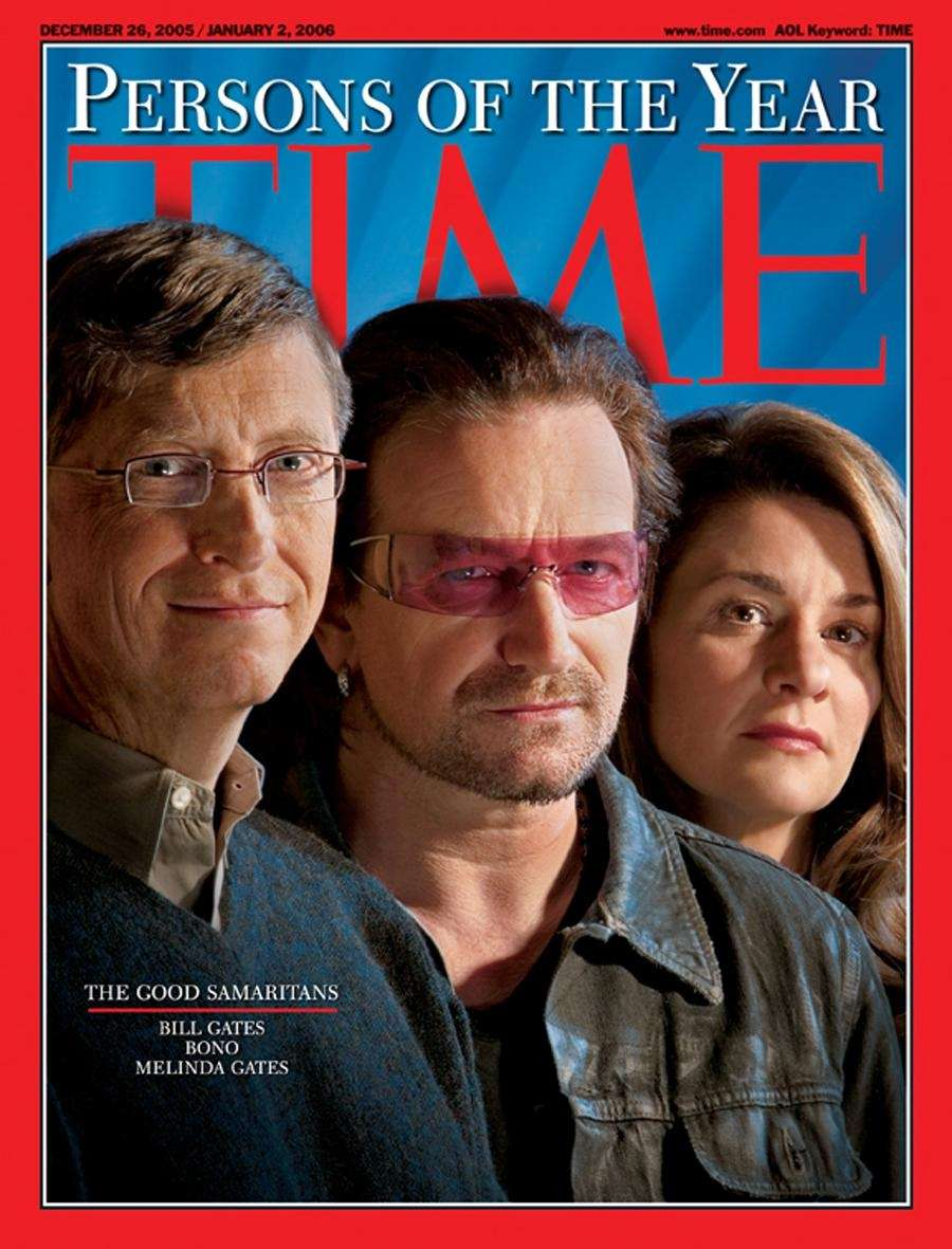2005: Bill and Melinda Gates, Bono