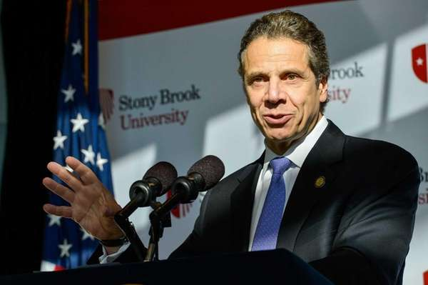 Gov. Andrew Cuomo is shown at Stony Brook