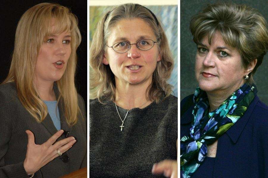 2002: The Whistleblowers, from left: Cynthia Cooper of