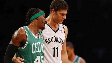 Gerald Wallace of the Boston Celtics and Brook
