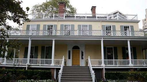 The exterior of Gracie Mansion, which is located