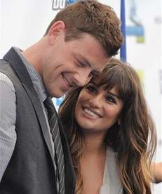 """Glee"" co-stars Cory Monteith and Lea Michele attend"